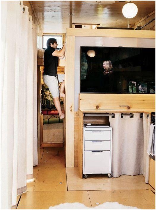 Мобильный домик площадью всего 22 кв. иетров.
