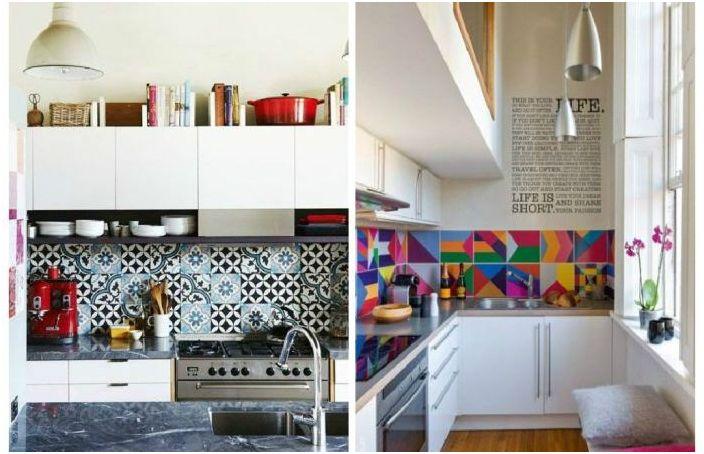 Epätavallinen muotoilu keittiön esiliinat