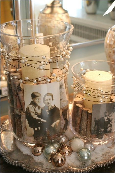 Интересен дизайн на свещници с мъниста и дърво ще създаде цветна атмосфера у дома.