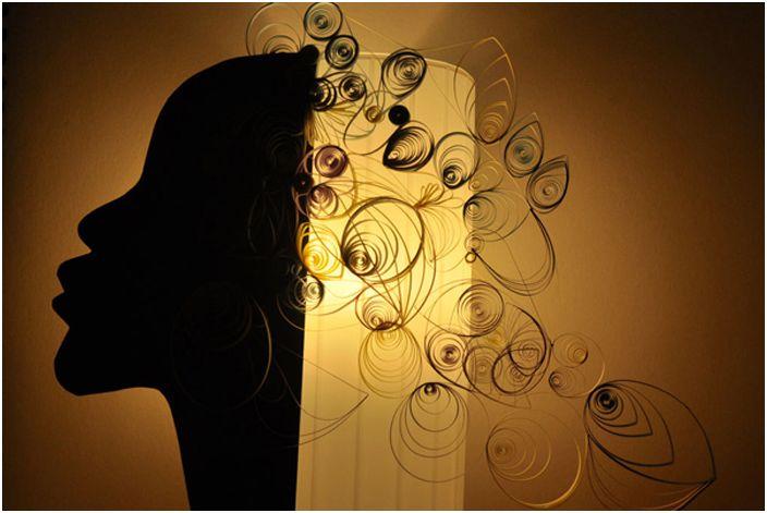Kompozycja jest gotowa jako abażur do lampy