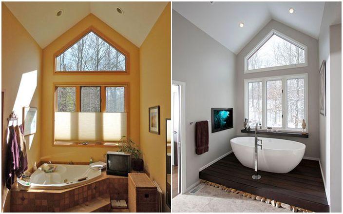 Oszałamiające przekształcenia 19 łazienek: zdjęcia przed i po