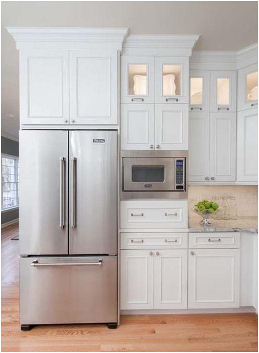 Интегрирайте микровълновата в кухненския шкаф