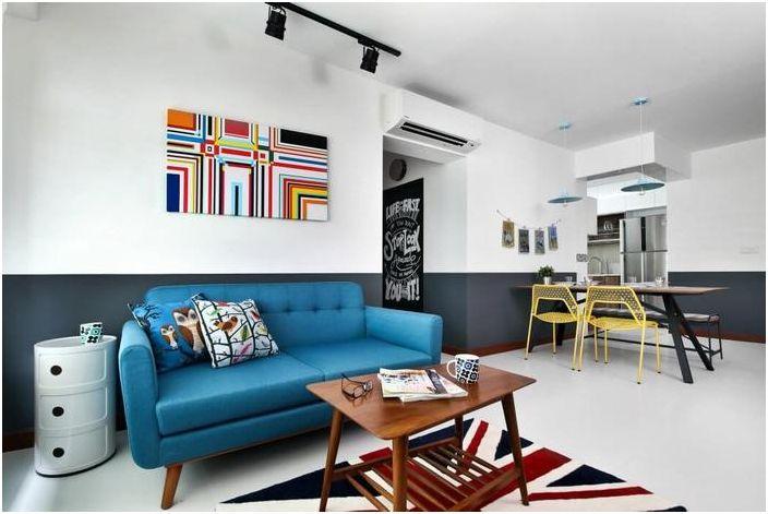 Projekt mieszkania dwupokojowego w Singapurze