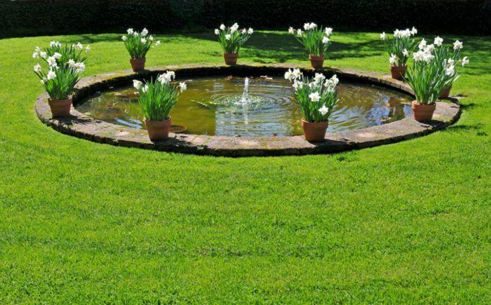 Кръгъл басейн в градината