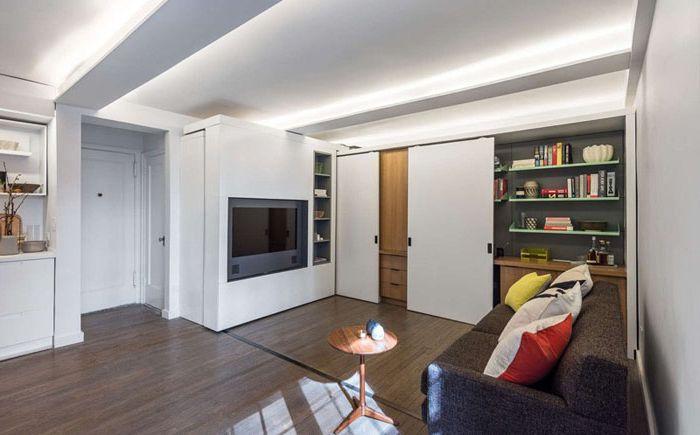Przesuwana ściana jako sposób na powiększenie przestrzeni w małym mieszkaniu