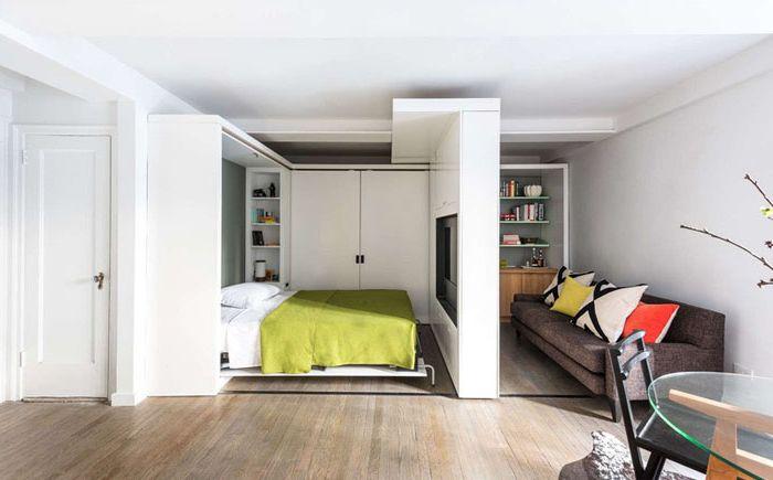 Po całkowitym otwarciu pojawia się strefa sypialni