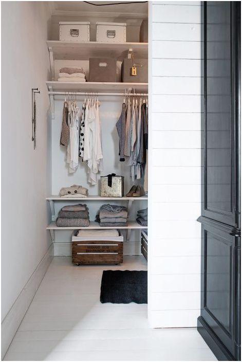 Входът в гардероба не се възпрепятства от наличието на врата