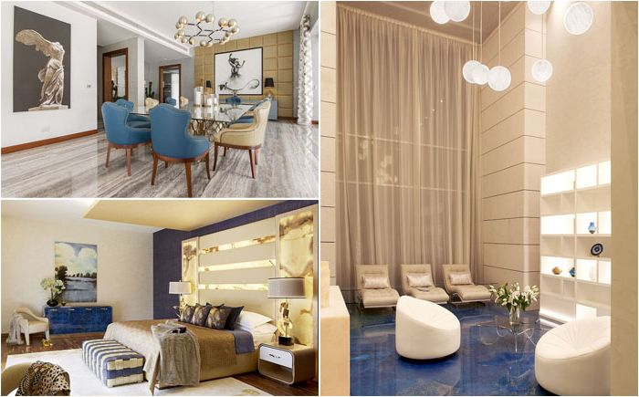 Luksusowe wnętrze w arabskim stylu z nowoczesnym akcentem