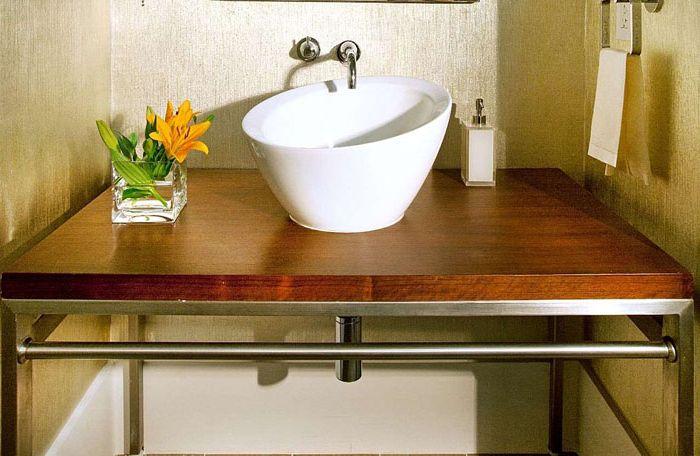 Оригинальная раковина со столиком