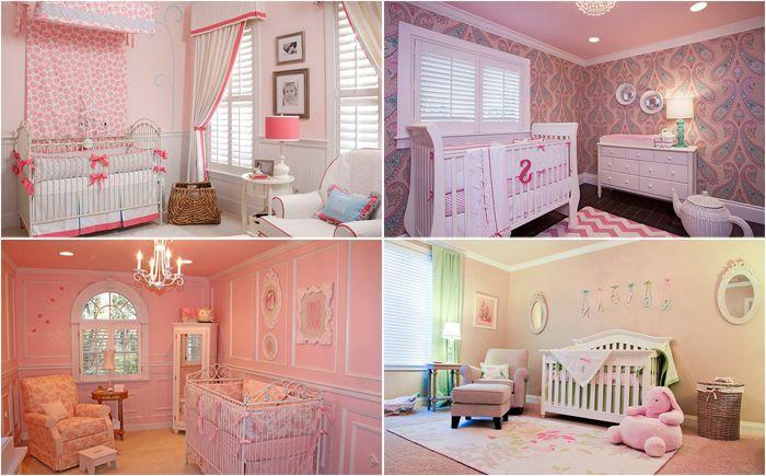 Różowy świat dla dziewczynek: 20 luksusowych sypialni dla noworodków