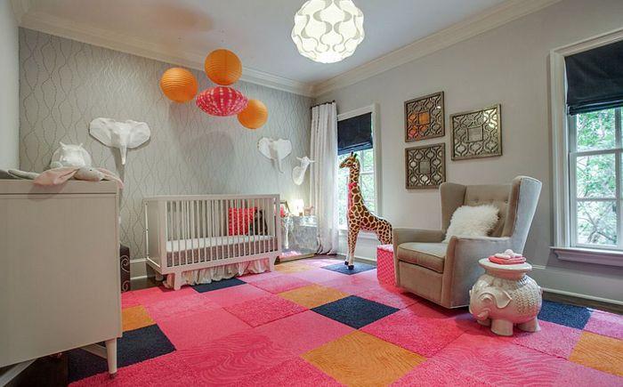 Sypialnia w odcieniach różu i szarości