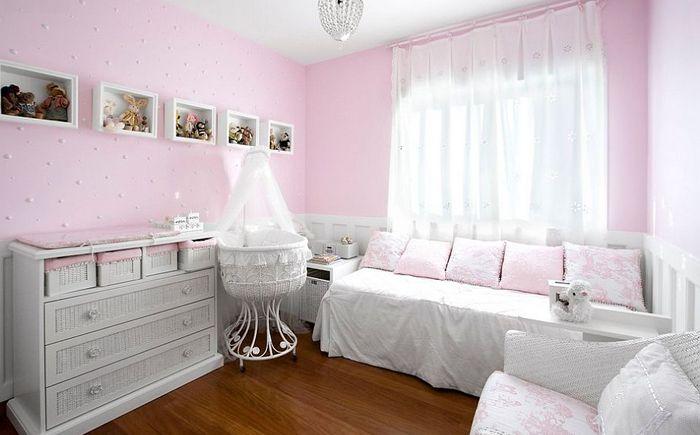 Wnętrze sypialni noworodka autorstwa Eduarda Correa Arquitetura & Interiores