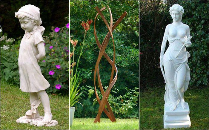 Градинска скулптура: как да намерите място за статуя в градината