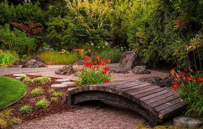 Малък мост в японската градина