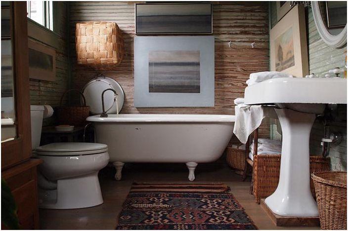 Естествени материали в интериора на банята в Ню Орлиънс