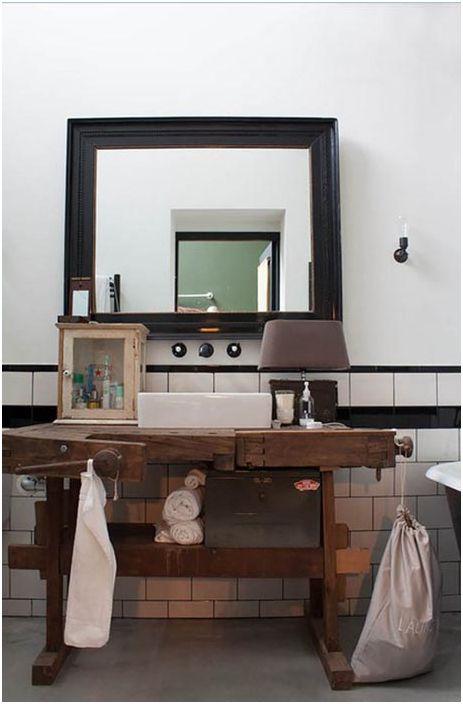 Тоалетка от бивша работна маса