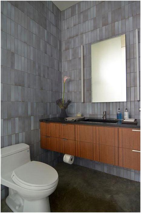 Елегантна баня в неутрални цветове