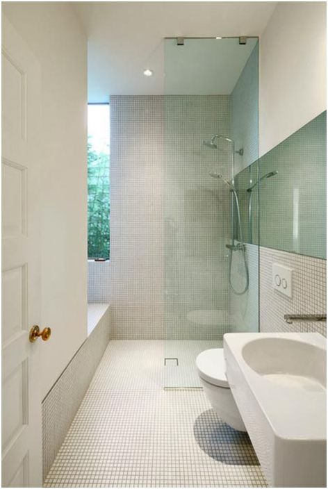 Минимализъм и мозайка в баня от Сиатъл