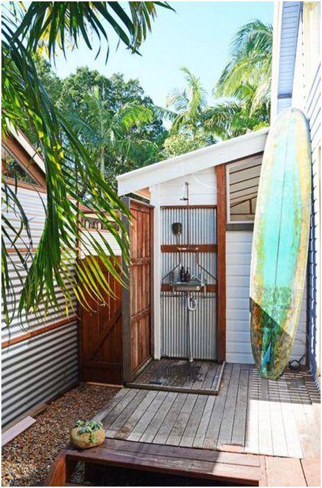 Външен душ в Австралия