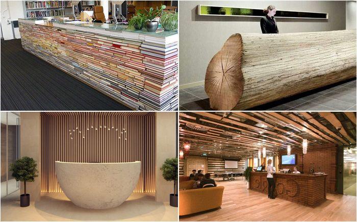 Самые оригинальные и уникальные столы ресепшн