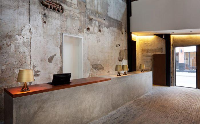 Гармоничное сочетание дерева и бетона