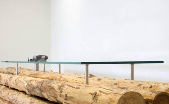 Стекло и дерево - идеальное сочетание