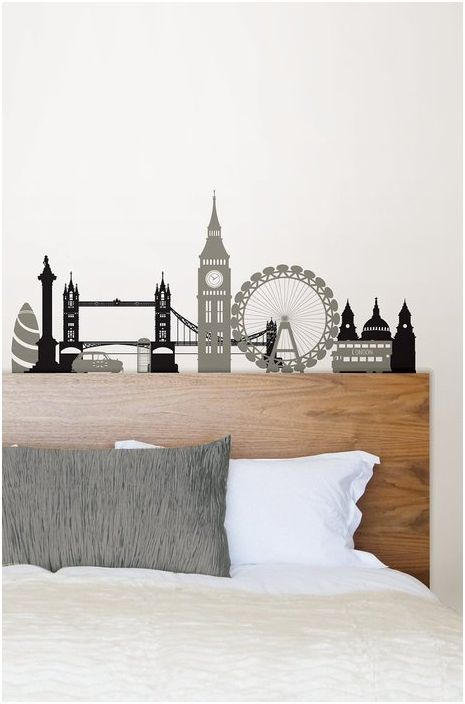 Dekoracyjne naklejki w sypialni