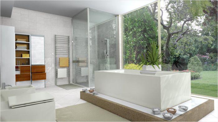 Ванная комната с душевой от Draw Link Group