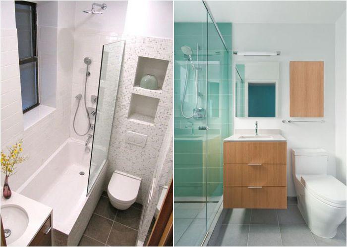 Интерьер компактных ванных комнат