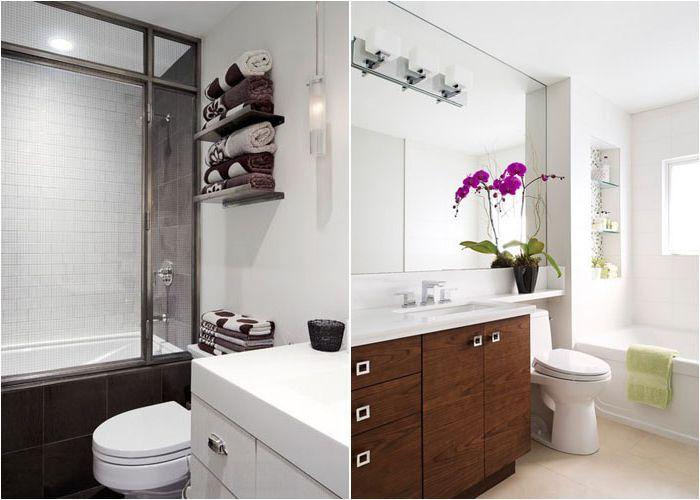 Интерьер небольших ванных комнат