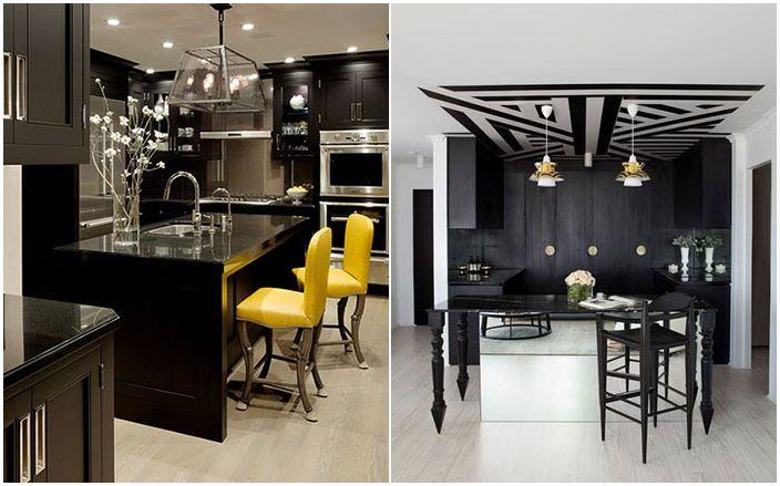 Сюрпризы дизайна интерьеров: 10 потрясающе красивых кухонь в черном цвете