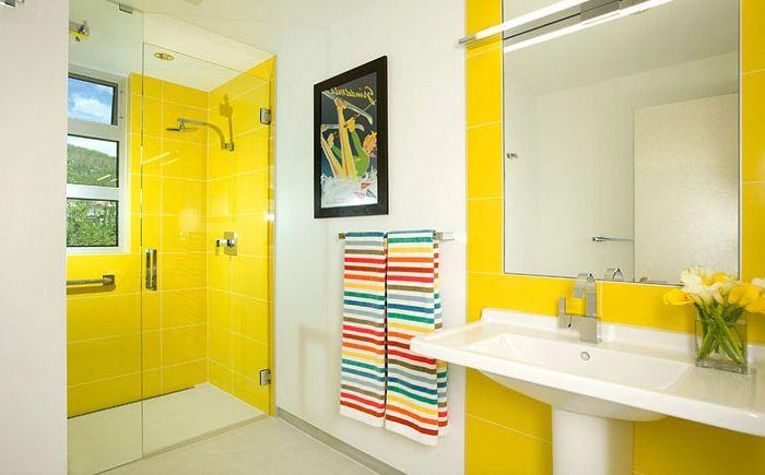 Ярко жълти интериорни плочки от Allen-Guerra Architecture