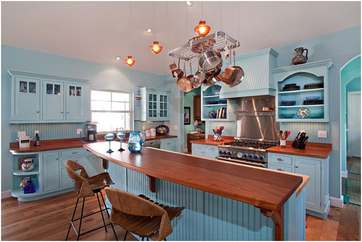 Кухненски интериор от Village Architects AIA, Inc.