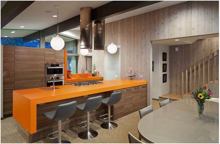Кухненски интериор с модерна качулка в стил 20 век