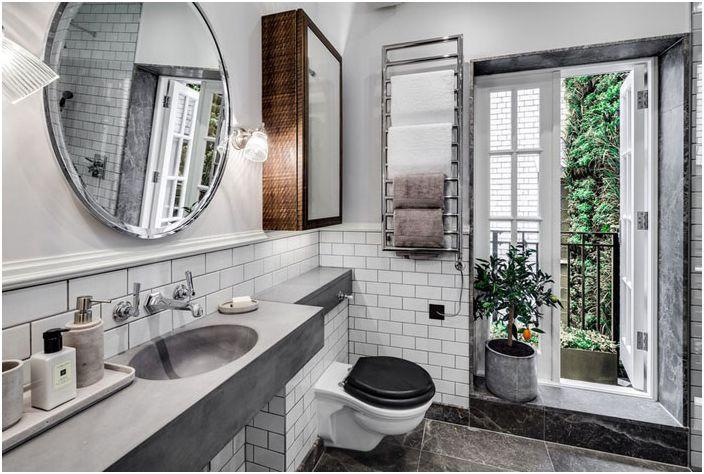 Ванная комната в эклектичном стиле