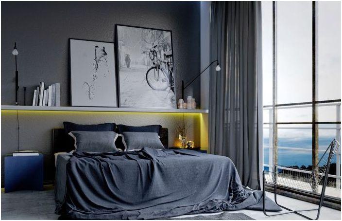 Изключителен интериор на мъжката спалня
