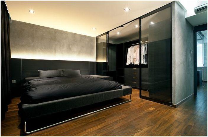 Черна ергенска спалня