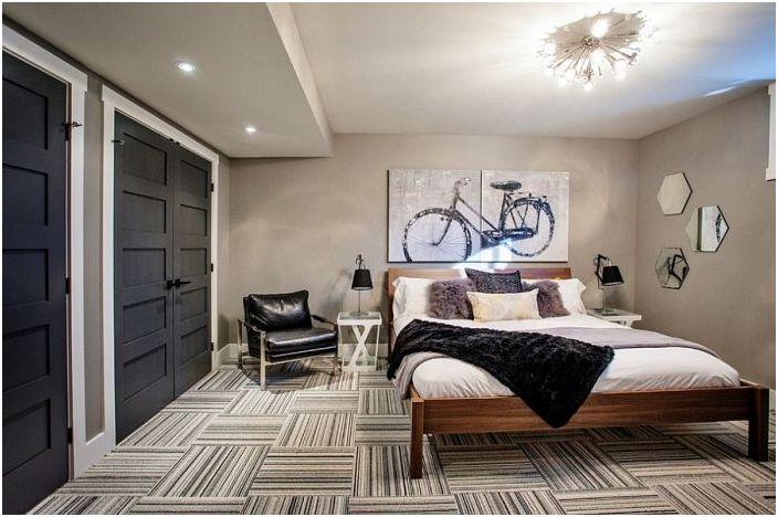 Смел ергенски интериор на спалнята