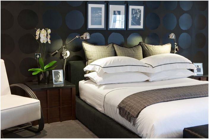 Wnętrze sypialni projektu MPD London