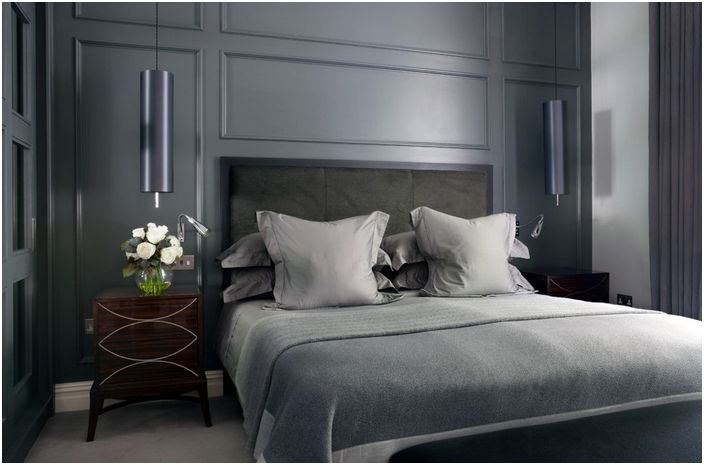 Wnętrze sypialni autorstwa Alexandra Dixon Interiors