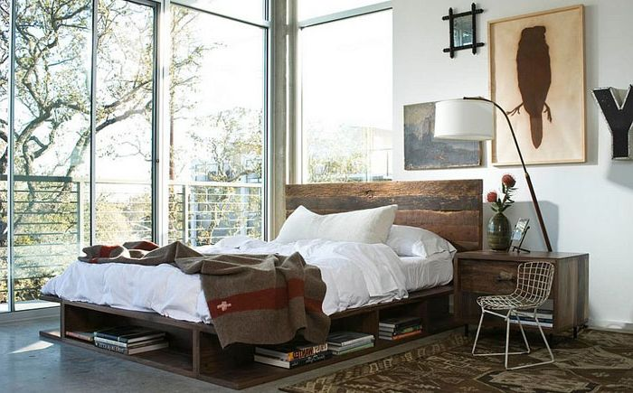 Современная спальня в индустриальном стиле от Marco Polo Imports