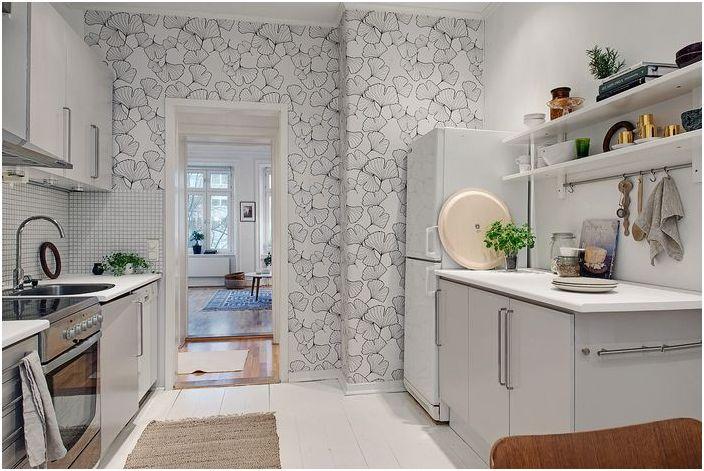 Стилен тапет в кухнята