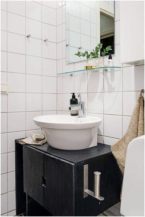 Интерьер небольшой ванной