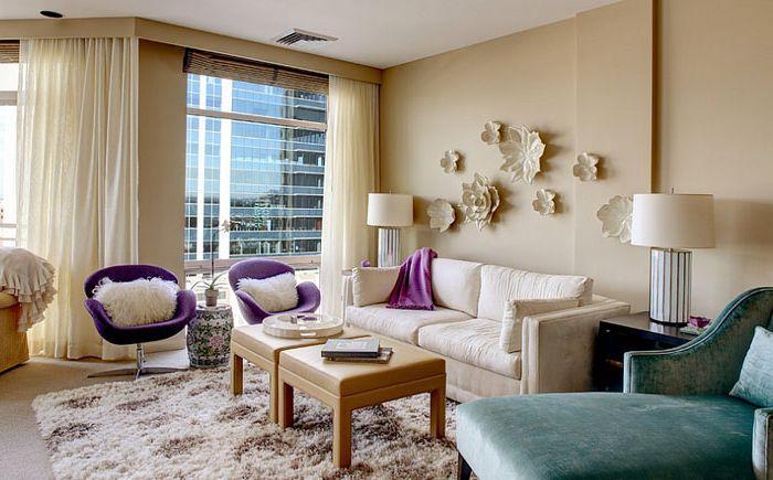 Стильная гостиная от Cornerstone Design