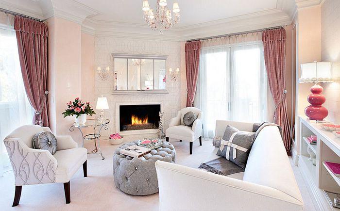 Уютная гостиная в эклектичном стиле