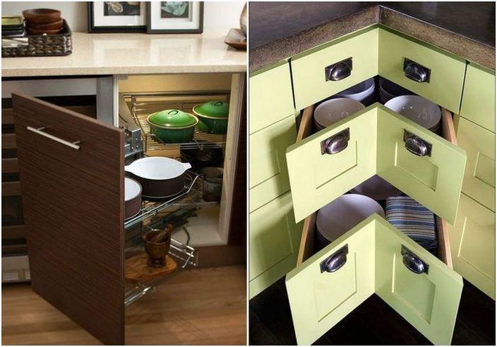 Hvordan plassere alt du trenger på et lite kjøkken og organisere plassen riktig?