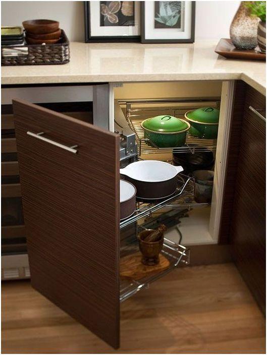 Originale løsninger for et lite kjøkken