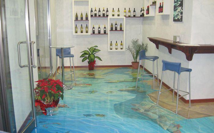 Kjøkken med tropisk fisk