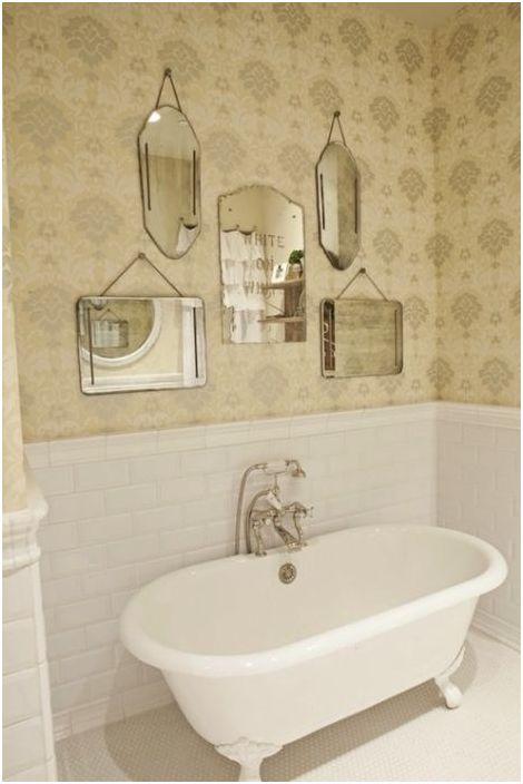 Зеркальный декор в ванной
