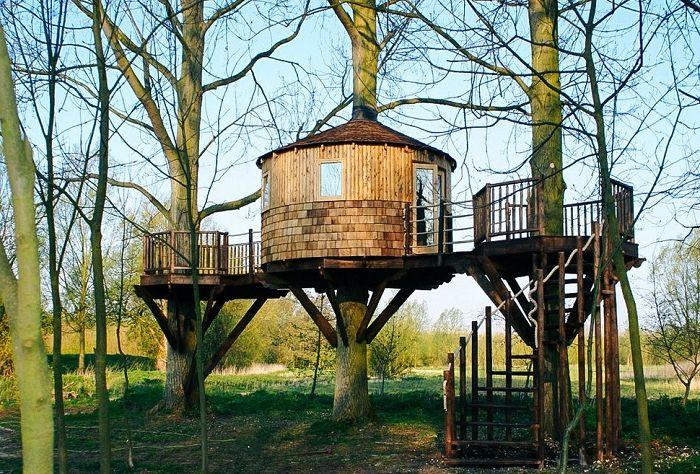 Woodland Den Tree House - domek na drzewie.